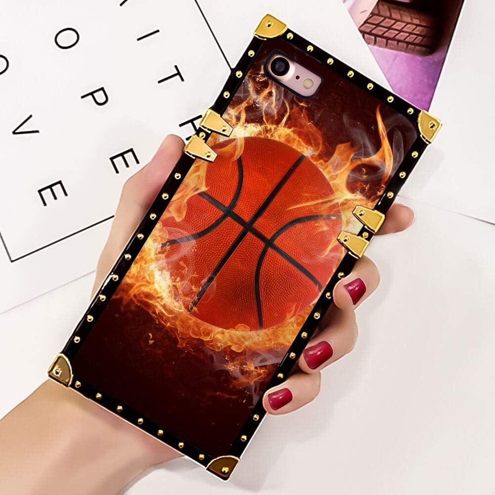 Amazon Com Iphone 7 Iphone 8 Iphone 7 8 Case Square Cover Basketball Wallpaper Luxury Elegant Soft Tpu Design Protective Case