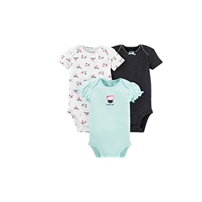 6a982eb74 Child Of Mine by Carters Baby Girl Bodysuits Outfits 3-Piece, Owl Design  Newborn