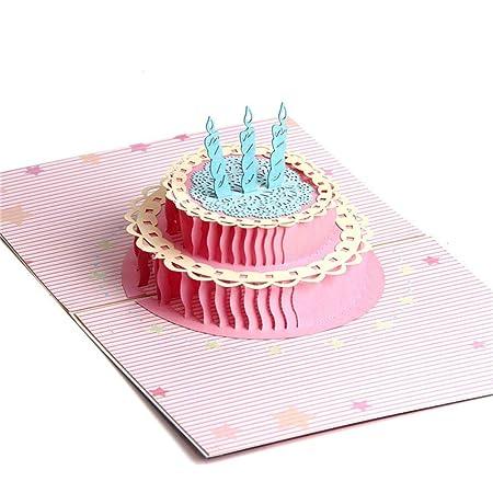 Yuwooben Creativa 3D Cumpleaños Pop Arriba Tarjetas de ...