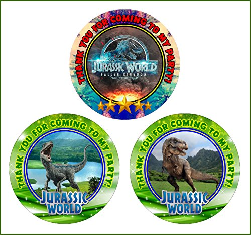 12 Jurassic World Fallen Kingdom Birthday Party Favor Stickers (Bags Not Included) (Fallen Party Pack)