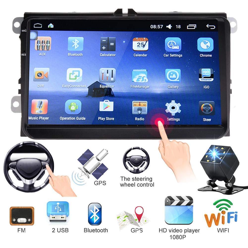 Android 6.0 Car Radio de navegació n GPS - Reproductor de WIFI multimedia para auto + Coche Volkswagen dedicado + video de reversa + contestador e mú sica Bluetooth + soporte de APP + reproductor MP5 StageOnline