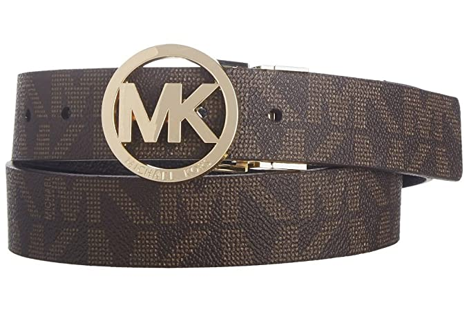 Michael Kors Nuovo originale donna reversibile logo cintura (marrone nero)  - MK551342 Brown Black Large  Amazon.it  Abbigliamento 9e650ef2e4f