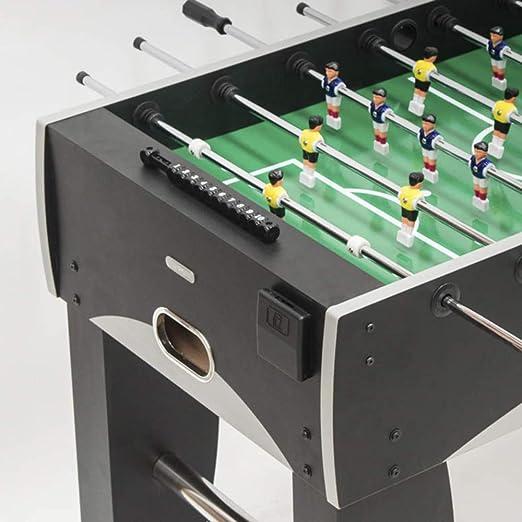 Devessport - Futbolín Silver Ideal para Jugar con Amigos - Gran tamaño - Profesional - Barras de Metal - Mango de plástico - Retorno de Bolas - con Posavasos - Medidas: 139 x 73 x 87 Cm: Amazon.es: Juguetes y juegos