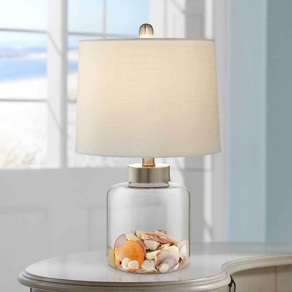 Glass Canister Small Fillable Accent Lamp - Table Lamps - Amazon.com