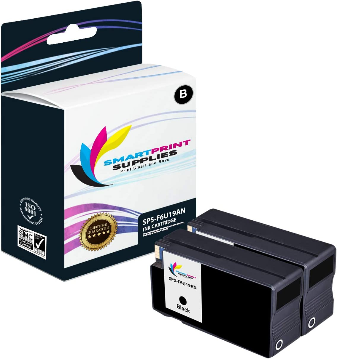 2,000 Pages - 2 Pack Pro 8210 8216 8218 8710 Printers Smart Print Supplies Compatible 952XL F6U19AN Black High Yield Ink Cartridge Replacement for HP OfficeJet 7740 8702 8715