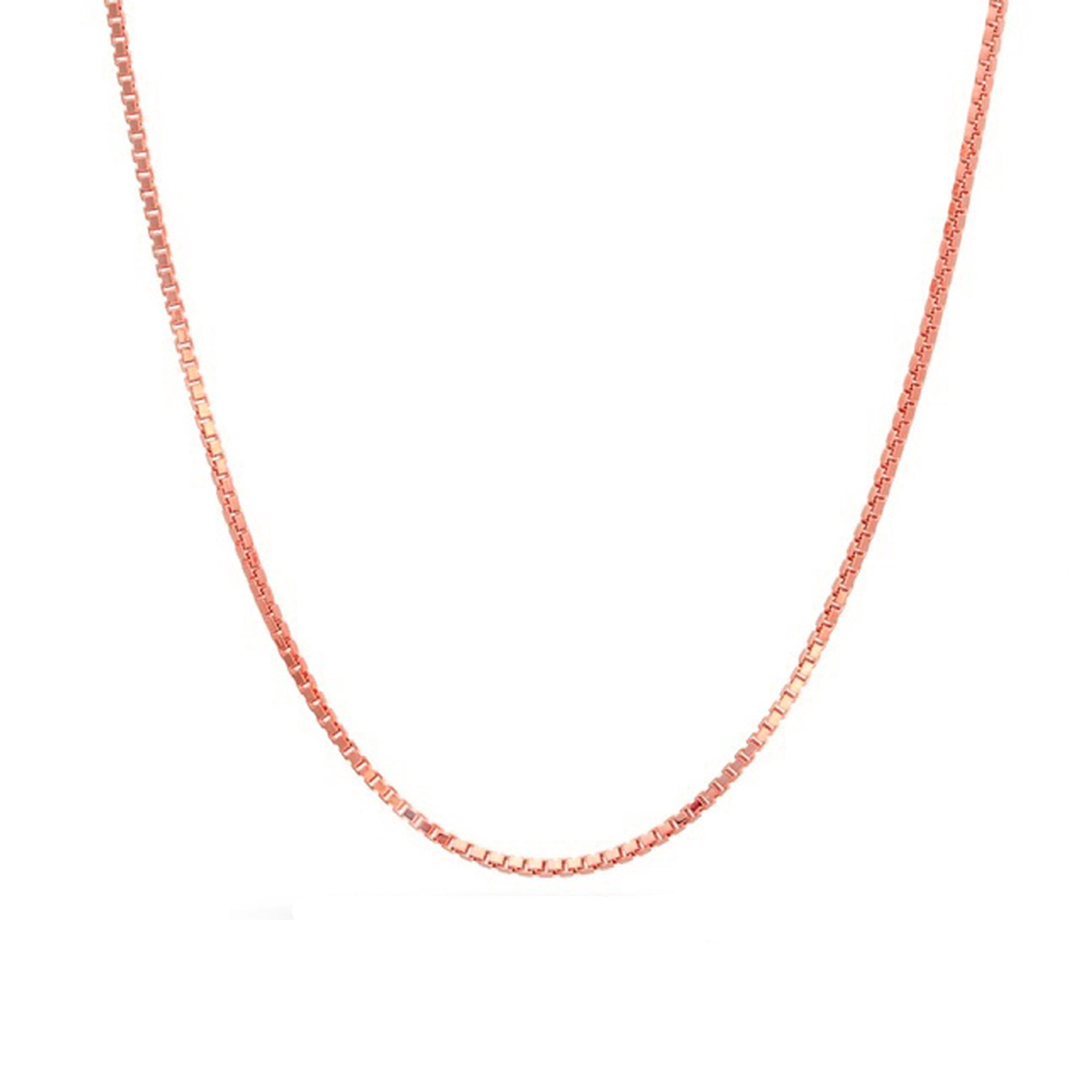 14K Rose Gold Box 012 0.72mm 20'' Pendant Chain by Decadence (Image #1)