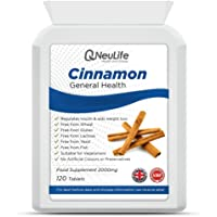 Cinnamon 2000mg x 120 Tablets   High Strength   Suitable for Vegetarians   Neulife Health & Fitness