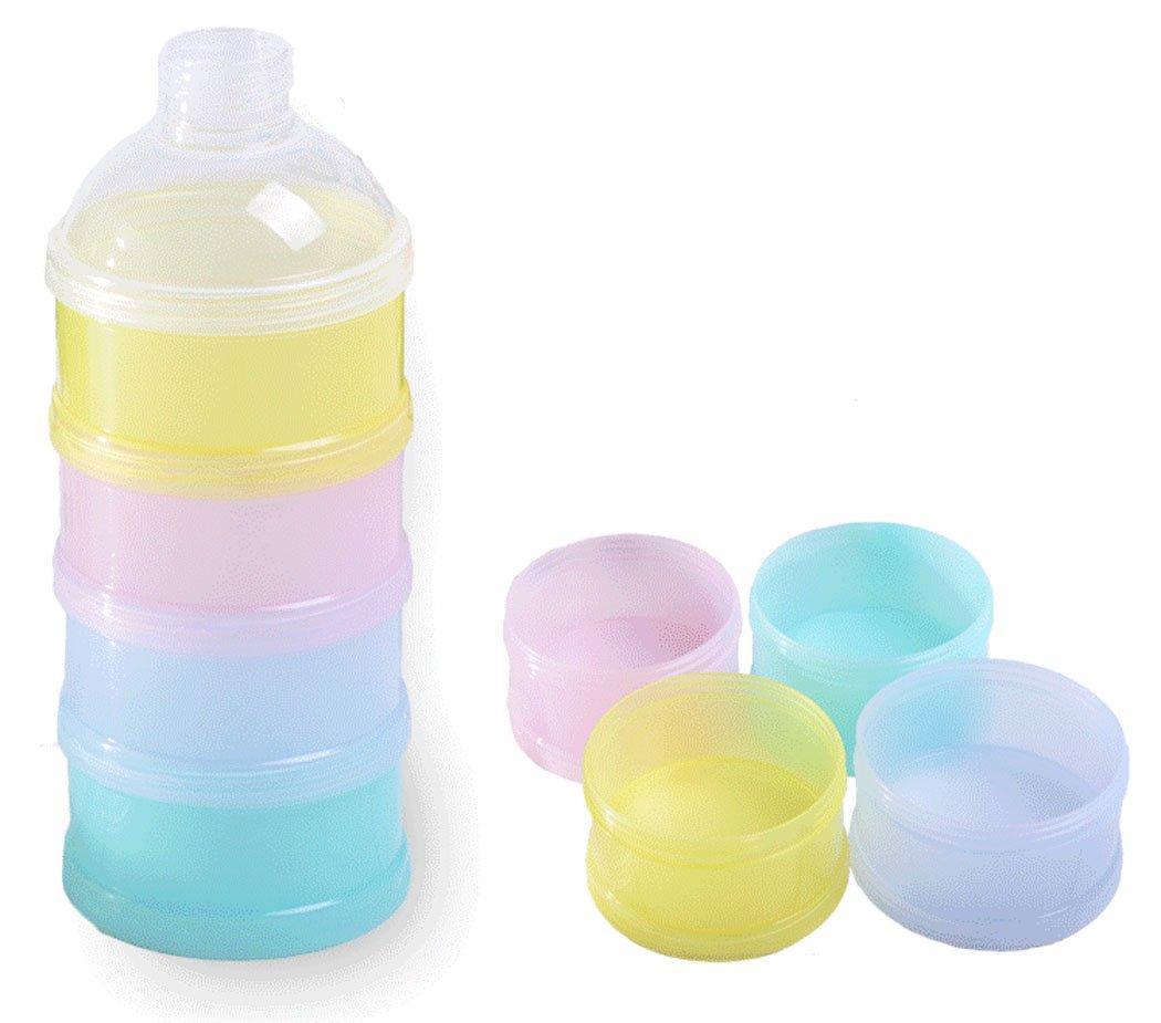 BW Portable Non-Spill Baby Formula Milk Powder Dispenser//Storage Snack Container BPA Free 2 pack, B
