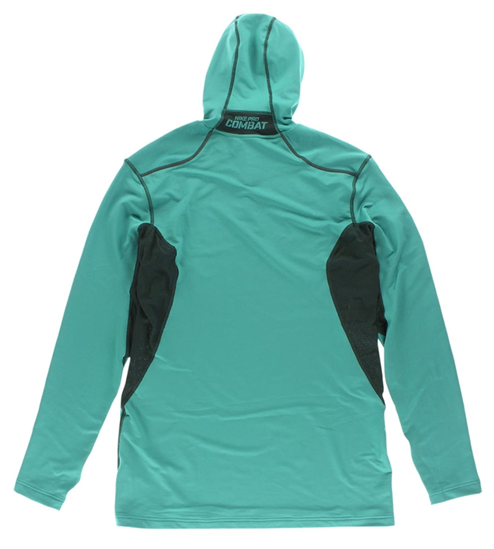 Amazon.com: Nike Pro Combat Hyperwarm Dri-FIT Max Men's Hooded Running  Shirt - Catalina/Seaweed/Seaweed (Large): Clothing