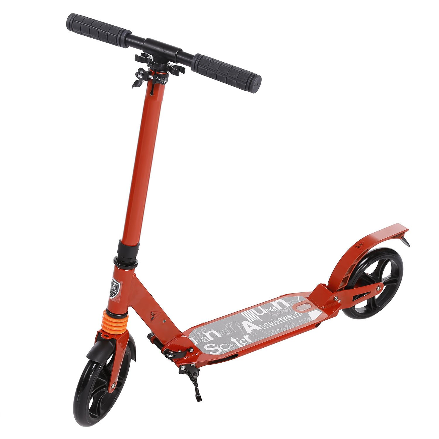 Dicesnow Adult Kick Scooter 220lbs Weight With 2 Big Wheels Rear Brake Easy-Folding Adjustable Handlebar Street Push Scooter for City Urban Riders