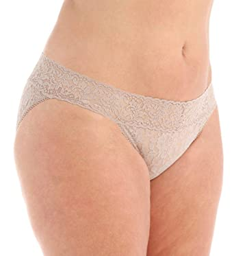 dbd7829cd123 Hanky Panky Women's Plus Size Signature Lace V-Kini Taupe Bikini 2X (20W-