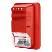Fire Alarm Flashing Light Alarm with Fire Alarm Sounds Safety System Sensor for Home Office Hotel