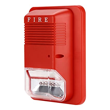 Fdit Alarma de Incendio Luz Intermitente Alarma con Alarma ...