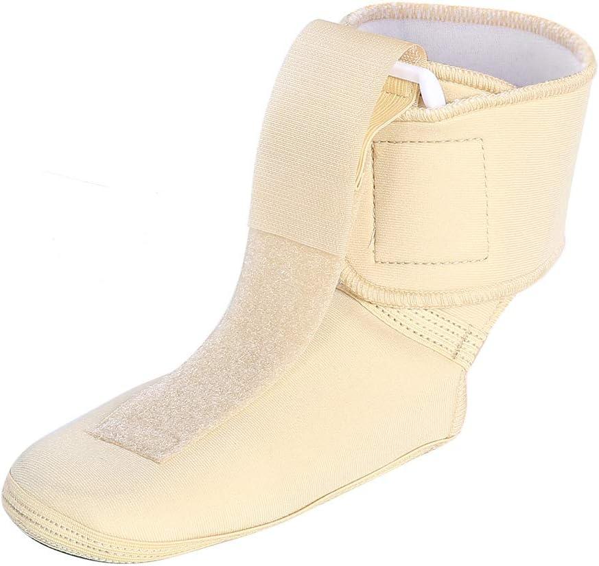 Soporte de férula de Tobillo Ajustable, Soporte de Correa de Tobillo Soporte de ortesis de pie Soporte de Soporte, Soporte ortopédico de caída de pie para Ancianos para el hogar(S)