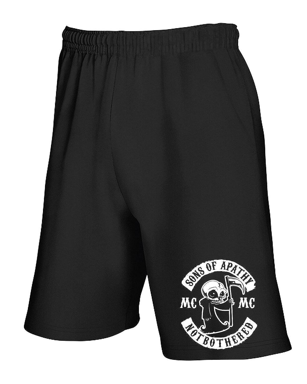 T-Shirtshock - Jogginghose Shorts TB0423 Sons of Apathy Anarchy Gang Patch Reaper Anarchy Mens Funny Biker TSS_PCOR_TB0423