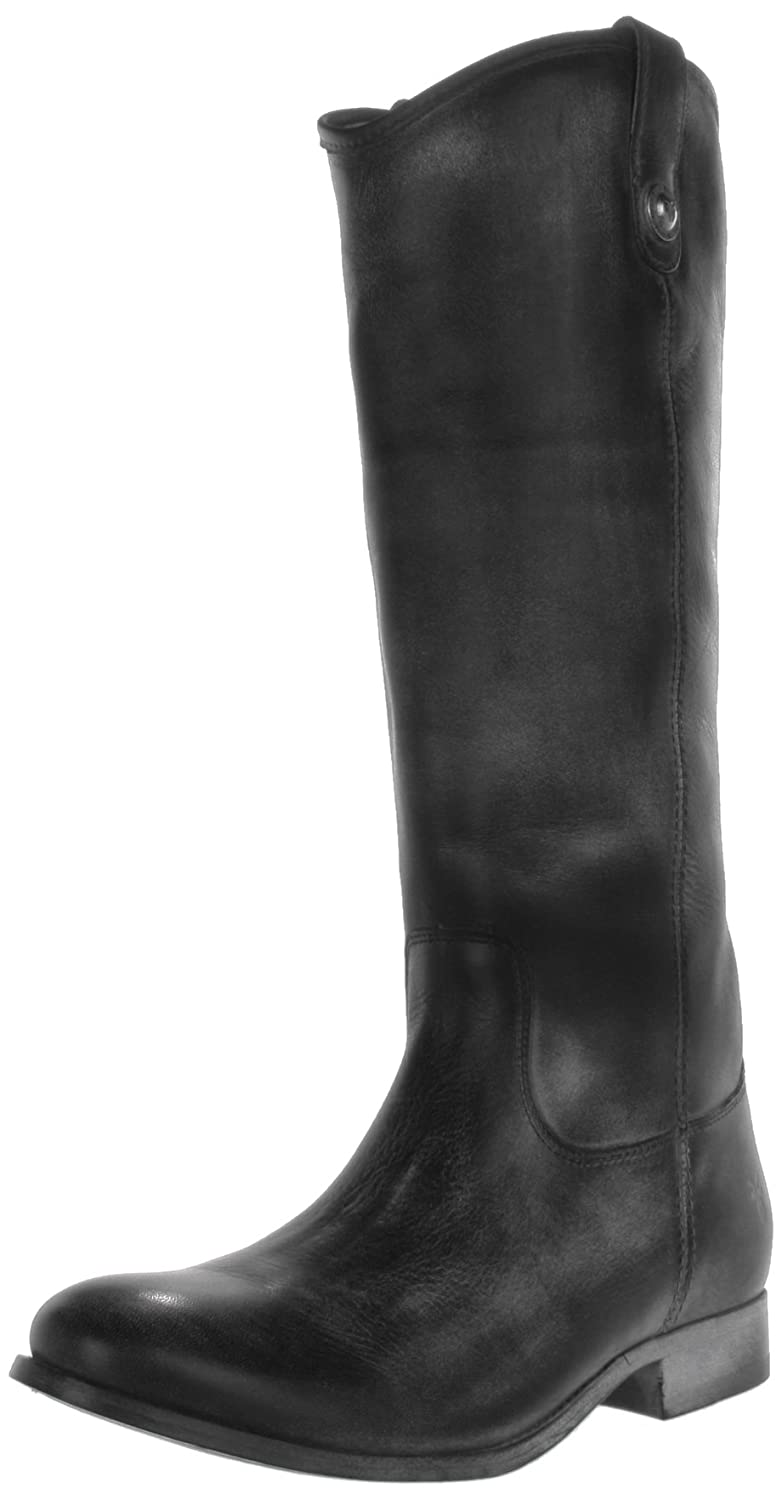 Black Antique Soft Full Grain Leather Frye Women's Melissa Button Boot