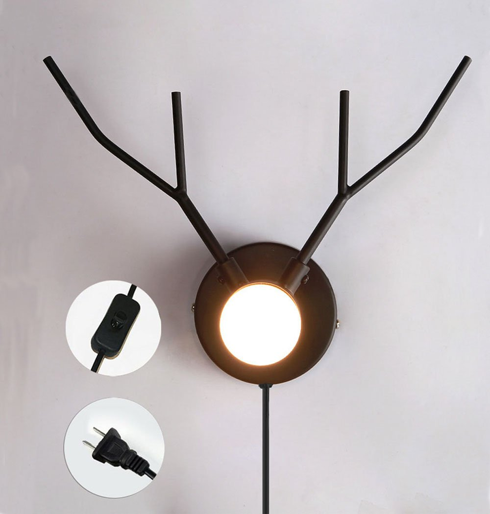 Children's Elk Nursery Wall Decor - Night Lamp - Bulb Not Included