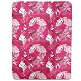 Honolulu Pink Fitted Sheet: King Luxury Microfiber, Soft, Breathable