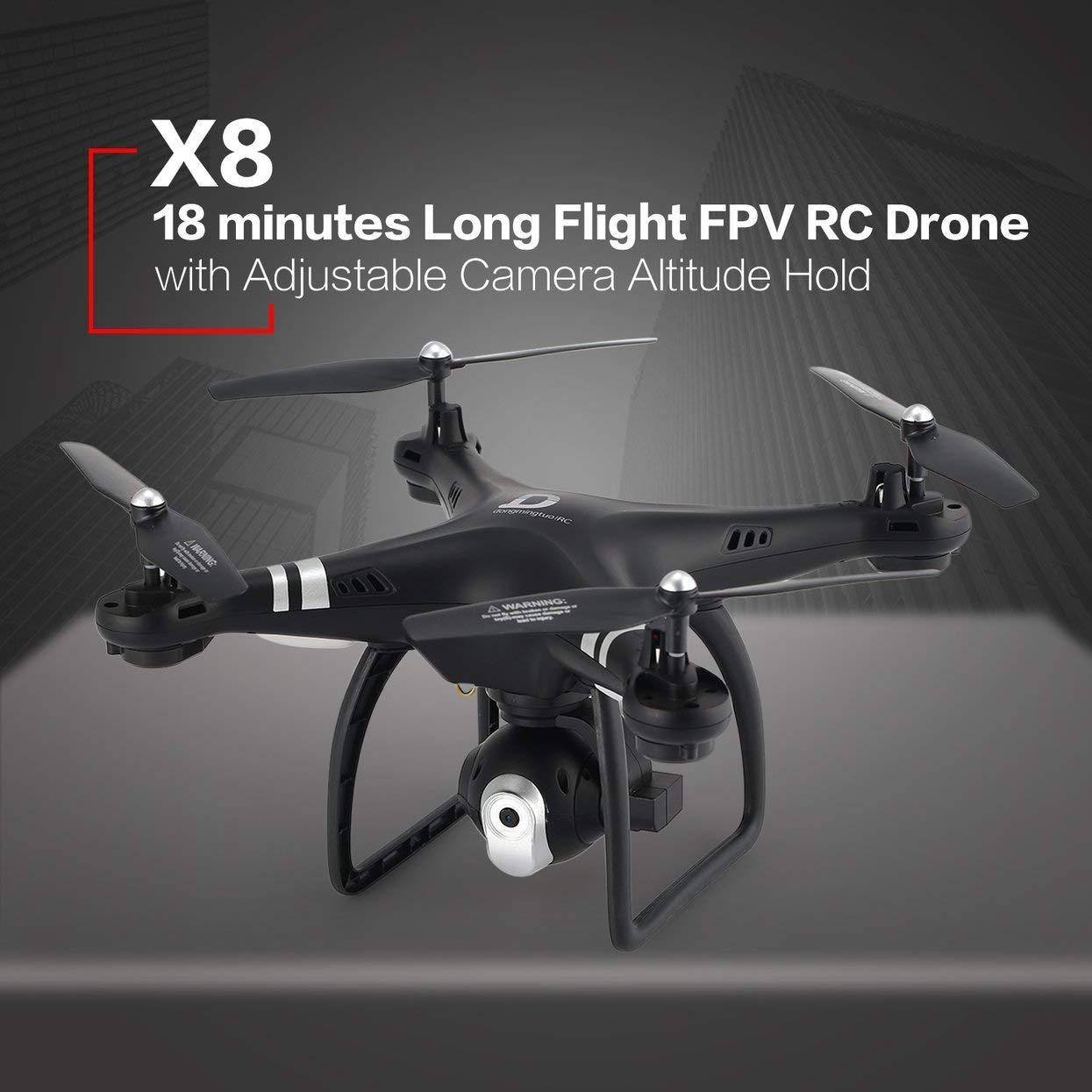 Für X8 RC Drone 2,4G FPV RC RC RC Quadcopter Drohne mit Einstellbare Kamera Höhe Halten Headless Modus 3D-Flip 18 Minuten langen Flug 8ef3ef