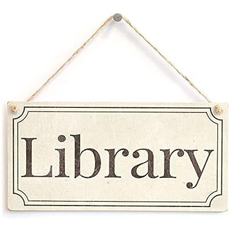 123RoyWarner - Cartel para Puerta de Biblioteca, Estilo ...