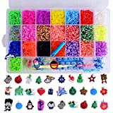Rainbow Loom Bands Kit 4800 Rubber Craft Loom Bands With 30 Charms