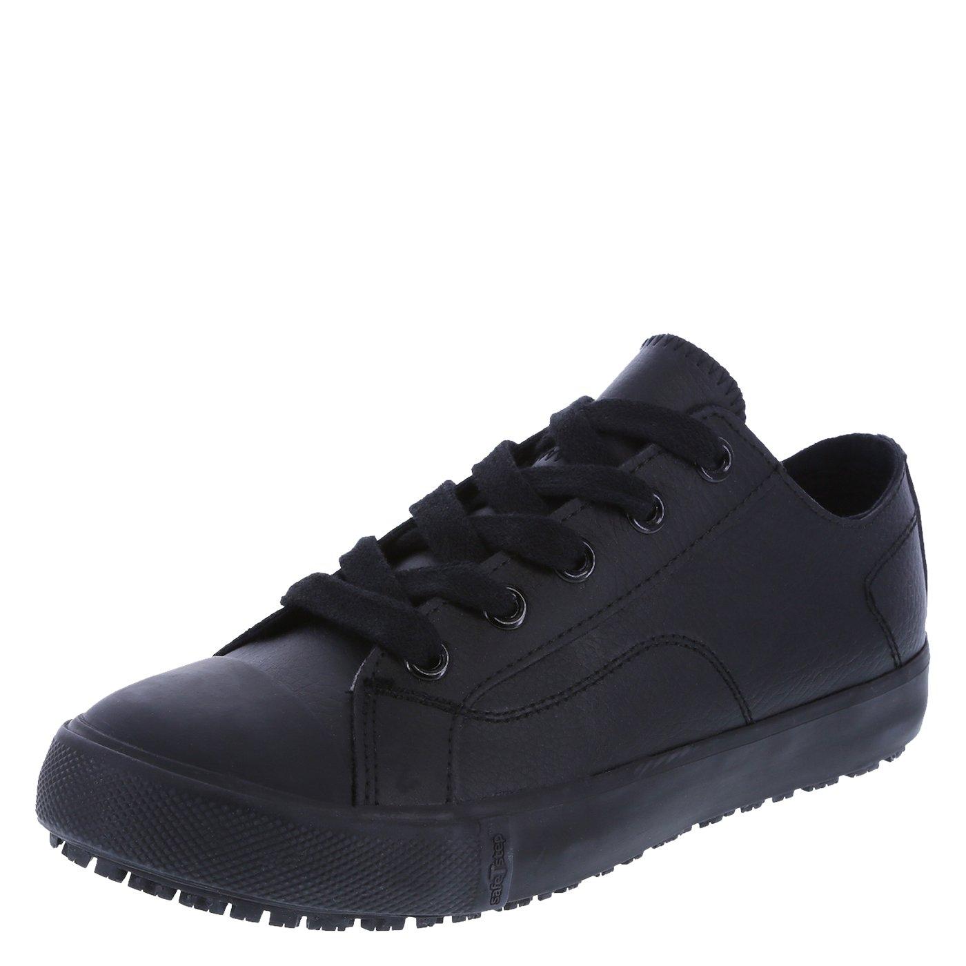 safeTstep Slip Resistant Women's Black Leather Women's Kick 5 Regular