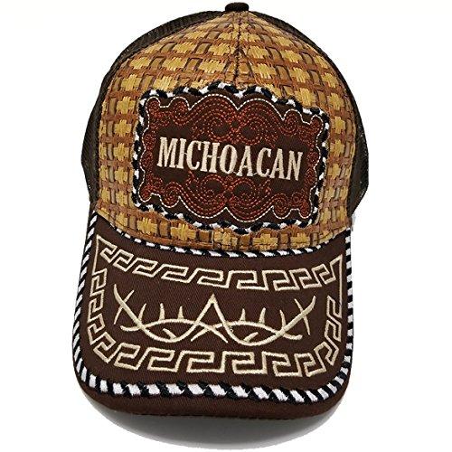 a3f8b2870fa MrKap Mexico Straw Mesh Cap Metal Metalic Patch Baseball Rooster ...