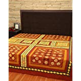 Queen Bedspreads Cotton Maroon Patch Work Floral Double Bedsheets By Rajrang