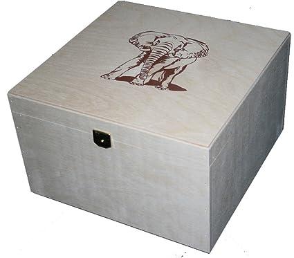 Caja de almacenaje con diseño cuadrado de práctica caja de madera con tapa de 25.0 x