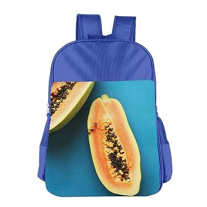 BINGZHAO Papaya Smoothie Vegan - Mochila para niños y niñas