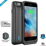 ZAAP®(USA) ACTIV iPhone 6/6S Battery Case/Charging case [MFi Certified by APPLE] 3100 mAh Slim power bank/battery pack/battery juice, Award Winning Design(USA)-Black