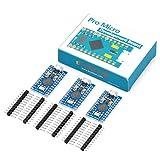KOOKYE 3PCS Pro Micro ATmega32U4 5V/16MHz Module Board with 2 Row Pin Header for Arduino Leonardo Replace ATmega328 Arduino Pro Mini (Tamaño: Pro Micro *3)