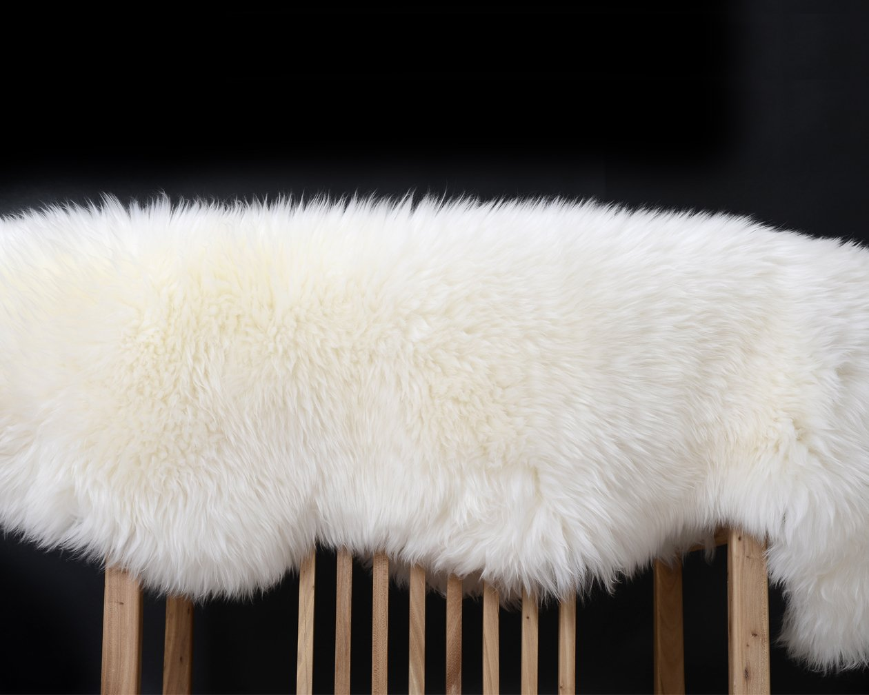 Yilong Carpet Australian Sheepskin Rug Yoga Mat One Pelt Ivory Natural Fur