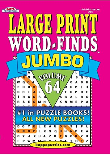 Large Print Word-Finds Jumbo Puzzle Book-Word Search Volume