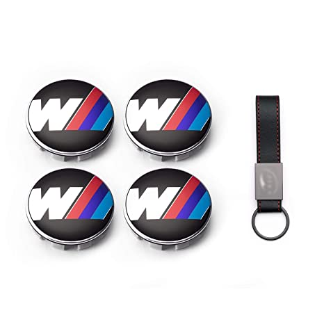 Set 4X Tapacubos 68mm para BMW 3M M Sport Serie 1 2 3 4 X1 X3