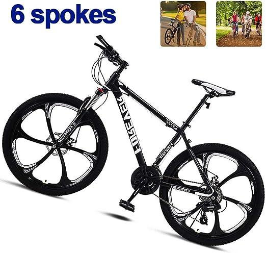 LFDHSF Bicicleta de Carretera, Bicicleta de montaña de Aventura con Frenos de Disco/Horquilla de suspensión, 26 6 radios Ruedas Bicicletas: Amazon.es: Hogar