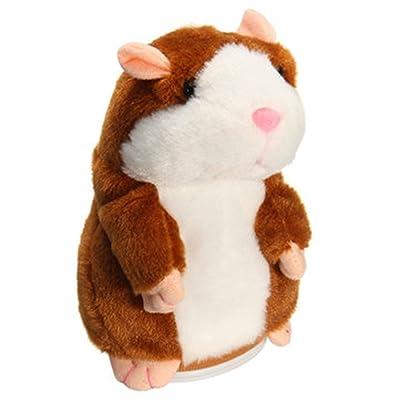 Takefuns Mimétisme Pet Talking Hamster répète CE que vous Dites Interactive animaux en peluche électronique Hamster Mouse pour garçon et fille Halloween Cadeau de Noël Anniversaire Nouv