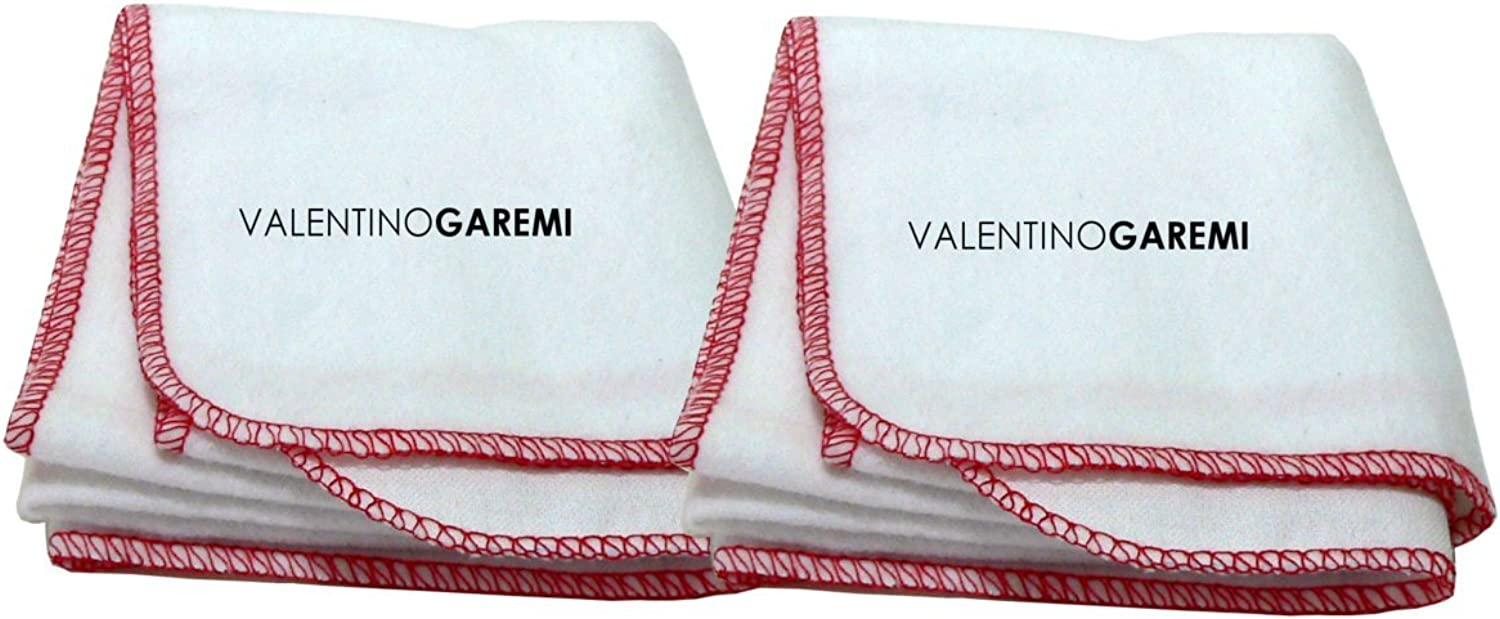 Valentino Garemi 2 Shining Polishing Buffing Cleaning Cloth Rag Genuine Cotton For Shoes, Leather Furniture, Musical Instruments, Fabrics, Seats, Chairs, Glass, Desk Tops