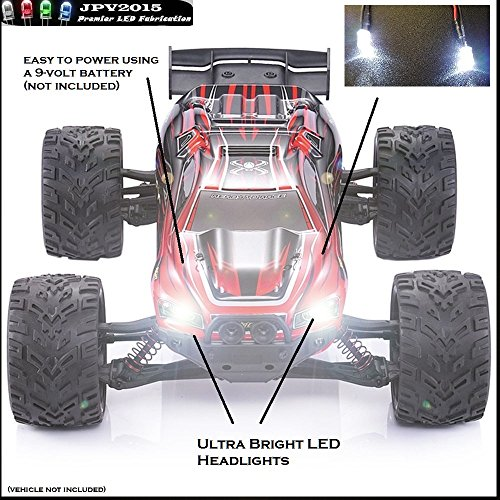 GPTOYS RC Cars S912 LUCTAN 1/12 Scale Electric Monster Hobby Truck LED Lighting Kit - Includes 2x Ultra Bright Headlights - Genuine JPV2015 Product -