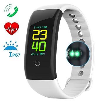 Montre Connectée Cardiofréquencemètre Bracelet Connecté Podomètre GPS Fitness Tracker dActivité Tension Artérielle Smartwatch Sport