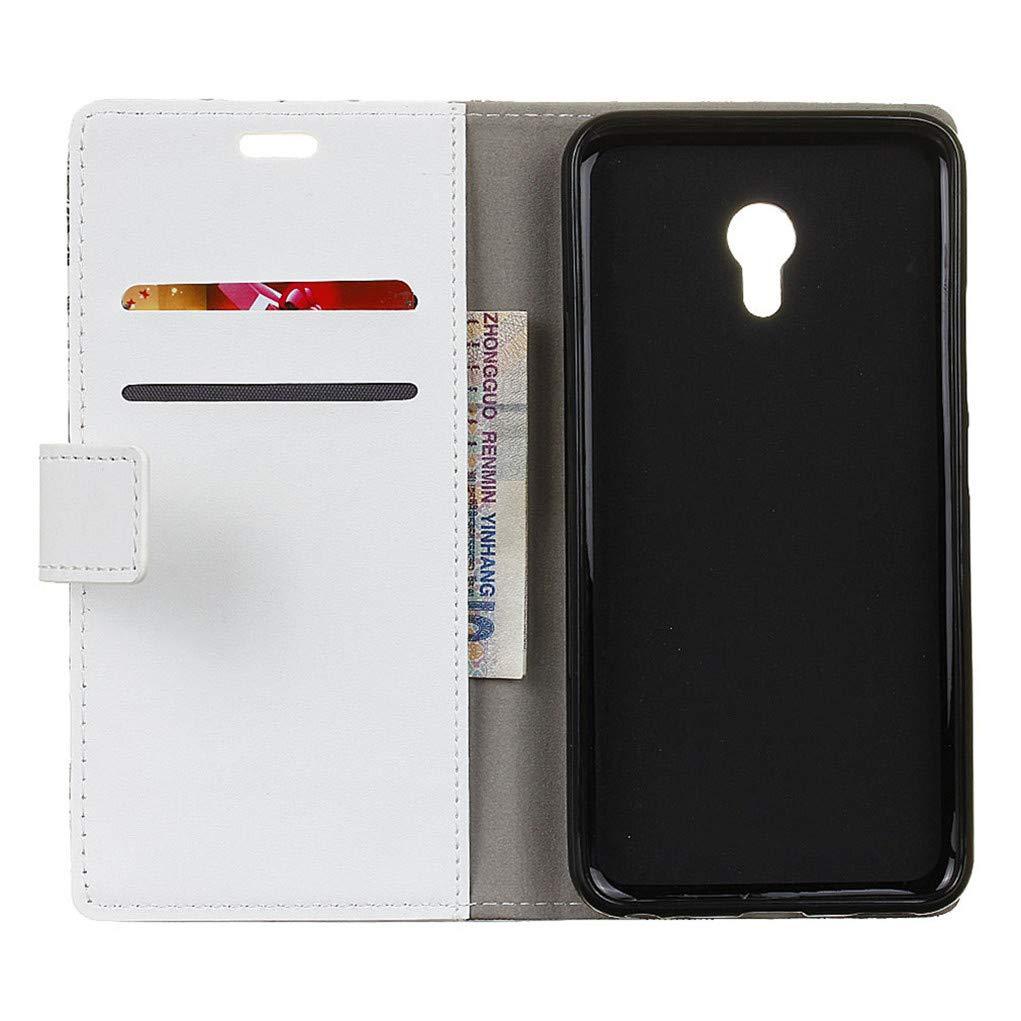 Cuero De La PU Magn/ético Capirotazo Billetera Apoyo Bumper Protector Cover Funda Carcasa Case HiKing para Vodafone Smart N9 Lite Funda