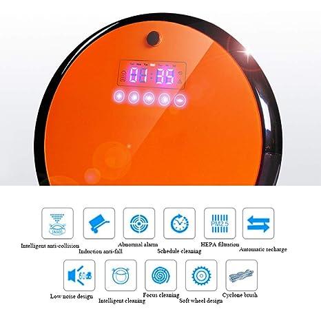 JPJQRXCQ Robot Aspirador y Fregasuelos con Tanque de Agua con Control Remoto sensores Infrarrojos y anticaída para Suelos Duros y alfombras Especial ...