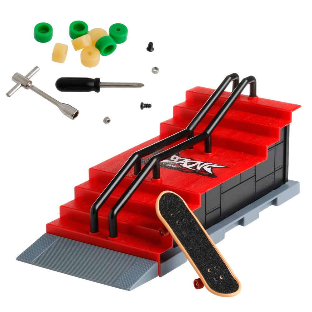 cici store Skate Park Ramp Parts for Tech Deck Fingerboard Sport Games Kids Novelty Toys Gift,#F