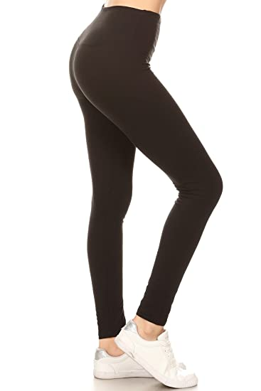 a76a496dcf033 Leggings Depot High Waisted Solid Yoga Leggings at Amazon Women's ...