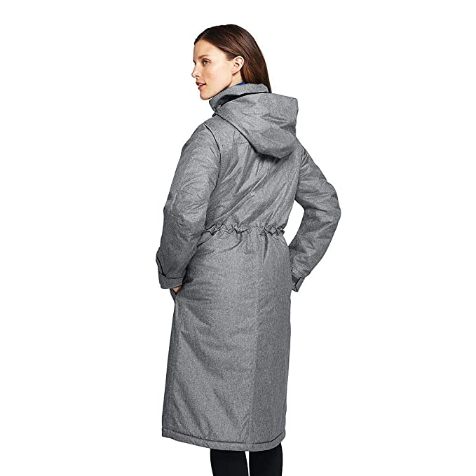 1a04dd20fe Amazon.com: Lands' End Women's Squall Insulated Long Stadium Coat: Clothing