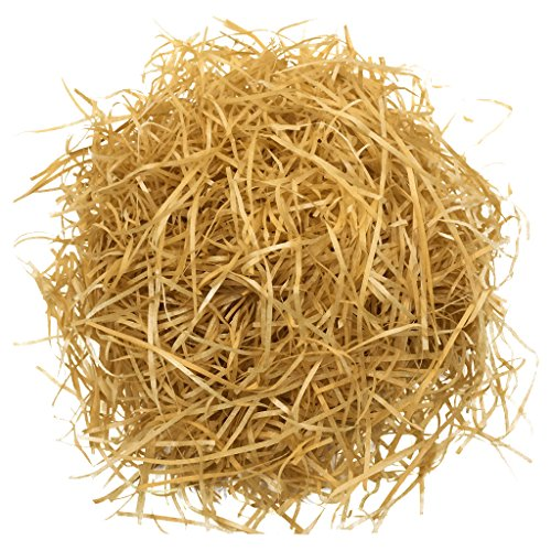 MonkeyJack 20g Shredded Crinkle Paper Raffia Paper Confetti DIY Gifts Box Filling Materials - Light Brown - Brown Raffia