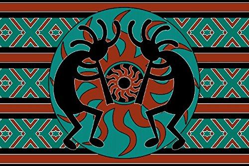 - Mrs. Kitten Tribal Aztec Kokopelli Southwest Design Doormat