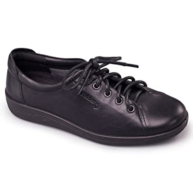 4e443c595d876 Padders GALAXY Womens Ladies Leather Wide E Fit Shoes Black: Amazon.co.uk:  Shoes & Bags