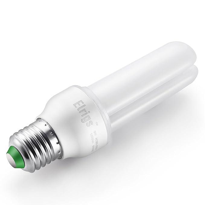 Elrigs Bombilla LED 9 W (equivalente a 75 W), luz blanca cálida (3000K), casquillo E27, pack de 2 bombillas: Amazon.es: Iluminación
