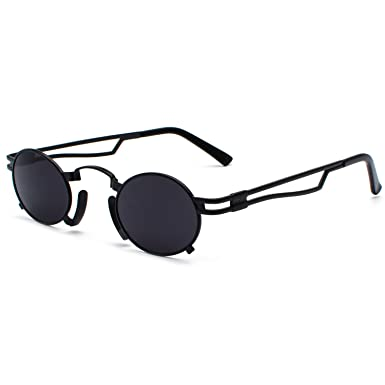 0a4f26e3ff CVOO Trendy Sunglasses Men Women Steam Punk Mirror Sun Glasses for Hip Hop Male  Female Black